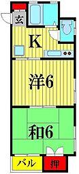 鳥海ビル[4階]の間取り