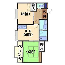 長岡中央第一ビル[201号室]の間取り