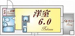 ダイドーメゾン神戸[4階]の間取り