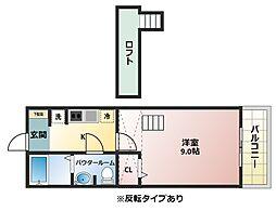 サンライブラ[2階]の間取り