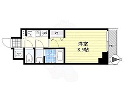 LUMEED CUBE 菊川 PREMIUM 9階1Kの間取り