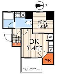 エルスタンザ神田 4階1DKの間取り