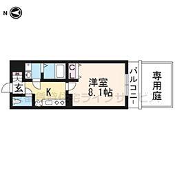 アドバンス京都アリビオ[1階]の間取り
