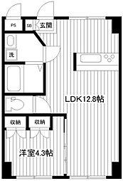 新山下三番館[2階]の間取り