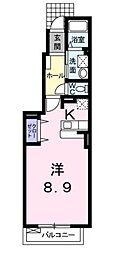広島県福山市千田町2丁目の賃貸アパートの間取り