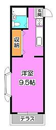 コーポタカハシ[1階]の間取り