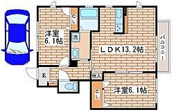 ラフィーネ須磨III・V[1階]の間取り