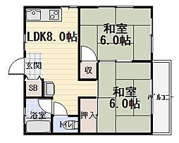 ハイツ小林[1階]の間取り