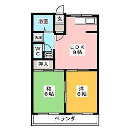キャッスルサカエ[2階]の間取り