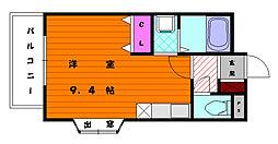 サンコーポバンビ[1階]の間取り