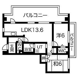 キャメルコート千里[4階]の間取り