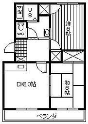 楠の台ハイツ[1階]の間取り