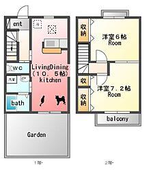 プラシードB棟[1階]の間取り