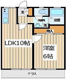 神奈川県相模原市中央区清新3丁目の賃貸アパートの間取り