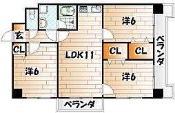 第5晴和ビル[3階]の間取り