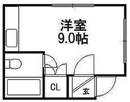 センターハイツ3−4[2号室]の間取り