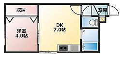 アークコート栄通6丁目[203号室]の間取り
