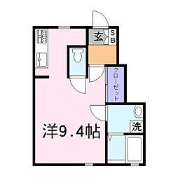 兵庫県加古川市加古川町中津の賃貸アパートの間取り