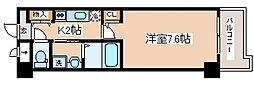 阪神本線 岩屋駅 徒歩1分の賃貸マンション 6階1Kの間取り
