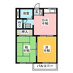 サンハイツイトウ[2階]の間取り