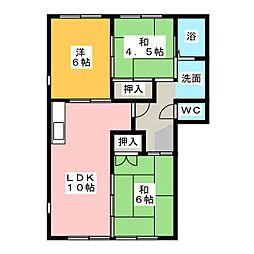 コーポ大屋敷[1階]の間取り