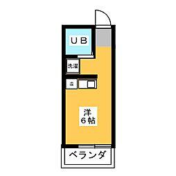 SUN S TASHIRO[2階]の間取り