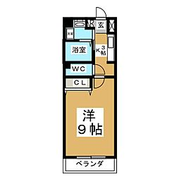 エスポワール加美[3階]の間取り