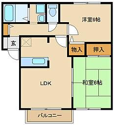 メゾン・カズII[2階]の間取り