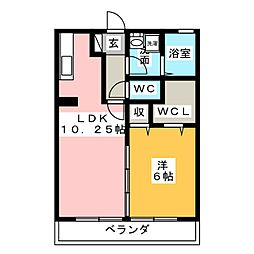 リビングタウン瀬名川[2階]の間取り