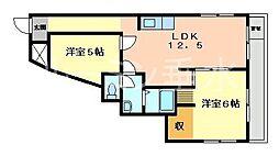 マンション阪本[3階]の間取り