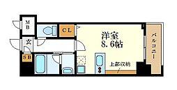 名古屋市営名城線 金山駅 徒歩12分の賃貸マンション 6階1Kの間取り