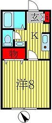 千葉県松戸市小金清志町3の賃貸アパートの間取り