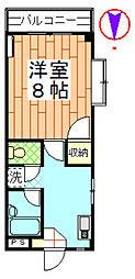 ハイツ菊地[206号室]の間取り