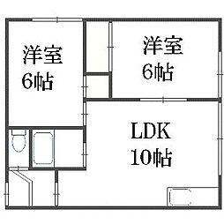 アムクレスト菊水元町[2階]の間取り