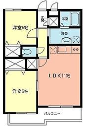 クレシアI[1階]の間取り