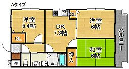 コーポ・エトワール[1階]の間取り