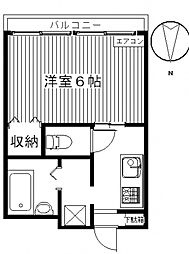 シタラハイツII[103号室号室]の間取り