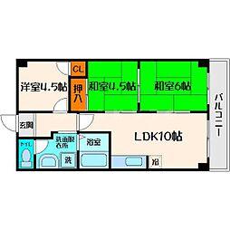 メゾン・ド・ソレイユ 6階3LDKの間取り