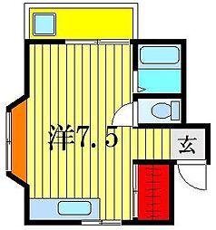 錦ハイツ[2階]の間取り