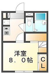 広島県福山市松永町5丁目の賃貸アパートの間取り