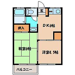 亀井ハイツ[2階]の間取り