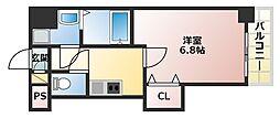 大阪府大阪市阿倍野区長池町の賃貸マンションの間取り