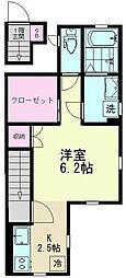 東京都世田谷区南烏山5丁目の賃貸アパートの間取り
