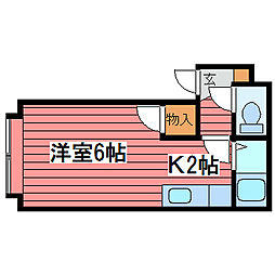 PLAZAIN福住A棟[2階]の間取り