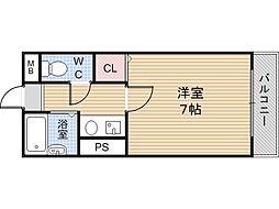 オーナーズマンション菱屋[605号室]の間取り