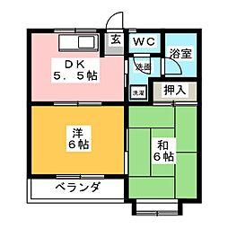 ムーニー松井パーク[1階]の間取り