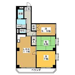 メゾン・ドゥ相生町[3階]の間取り