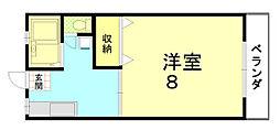 コーポ・キタノ[203号室]の間取り