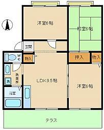 兵庫県神戸市西区宮下2丁目の賃貸アパートの間取り