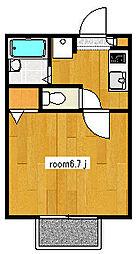 ロイヤル コモード[1階]の間取り